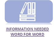 Information Needed Word For Word